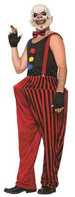Twisted Clown Circus Attraction Killer Scary Fancy Dress Halloween Adult Costume