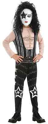 Starchild KISS Band Paul Stanley Rock Star Fancy Dress Halloween Child Costume