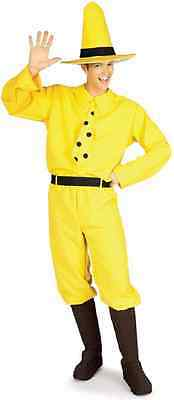 Man In The Yellow Hat Costume (Man in the Yellow Hat Curious George Fancy Dress Up Halloween Adult)