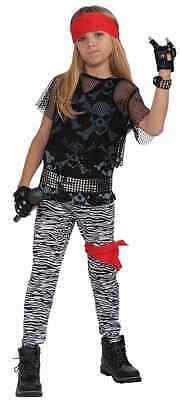 Rock Star Boy 80's Retro Hair Band Poison Fancy Dress Up Halloween Child Costume - 80's Kids Halloween Costumes