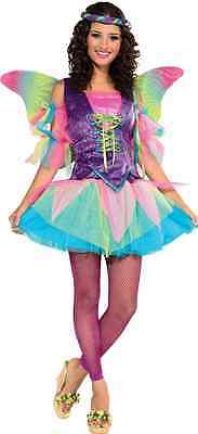 Renaissance Fairy Pixie Rainbow Princess Fancy Dress Halloween Adult Costume - Rainbow Fairy Costumes