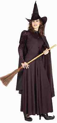 Classic Witch Wicked Black Gothic Scary Fancy Dress Up Halloween Adult Costume