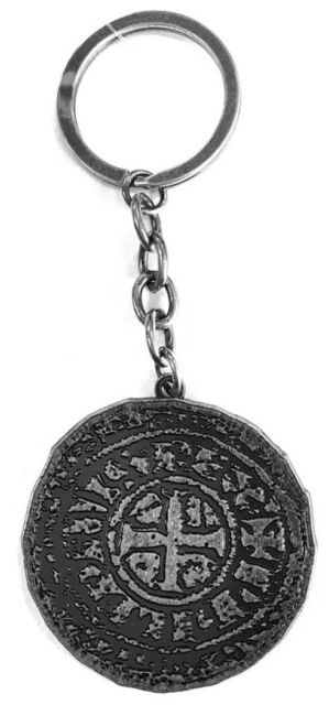 Uncharted 4 A Thief's End | Old Coin Metal Keychain Keyring - Official