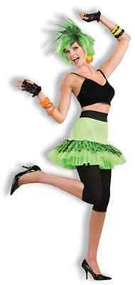80's Let's Have Fun Skirt Madonna Lauper Neon Green Halloween Costume Accessory