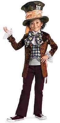 Mad Hatter Alice Wonderland Johnny Depp Dress Up Halloween Deluxe Child Costume - Halloween Costumes Johnny Depp