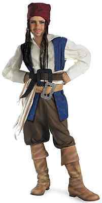 Captain Jack Sparrow Classic Pirates Caribbean Dress Up Halloween Child Costume