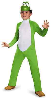 Yoshi Super Mario Brothers Nintendo Fancy Dress Halloween Deluxe Child Costume (Yoshi Halloween Costume Child)