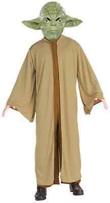 Yoda Star Wars Jedi Master Classic Robe Fancy Dress Up Halloween Child Costume - Jedi Master Halloween Costume
