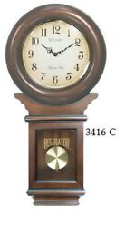LaCross Schoolhouse Chiming Regulator  WALL CLOCK Swinging Pendulum In Cherry