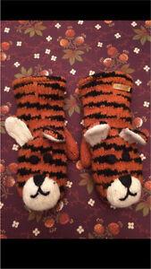 Tiger Mittens - 100% Wool