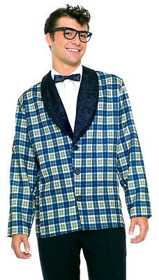 50's Jacket Buddy Holly Rock Star Plaid Tux Halloween Adult Costume Accessory