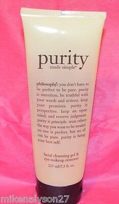 1 PHILOSOPHY PURITY FACIAL CLEANSING GEL & EYE MAKEUP REMOVER 7.5 OZ NEW! on Rummage