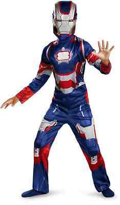 Iron Patriot Classic Marvel Superhero Man Fancy Dress Up Halloween Child Costume