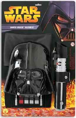 Darth Vader Costume Accessories (Darth Vader Blister Kit Star Wars Fancy Dress Halloween Child Costume)