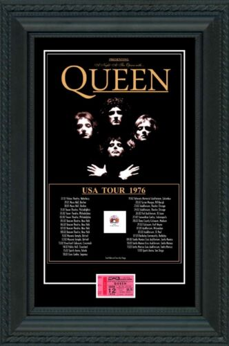 Queen 1976 box office concert POSTER + TICKET   North America Tour Freddie