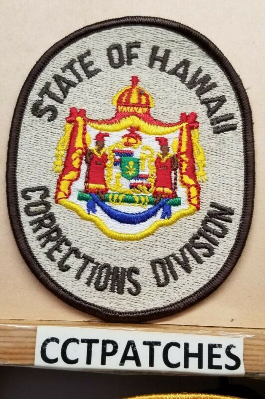 STATE OF HAWAII CORRECTIONS DIVISION POLICE SHOULDER PATCH