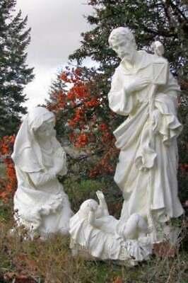 Best Nativity Set Yet 39 inch Indoor Outdoor Resin White Jesus Mary Joseph Yard