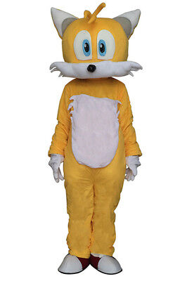 Tails Sonic Costume (Miles Tails Prower From Sonic Fox Mascot Costume ADS Cartoon Fancy Cosplay)