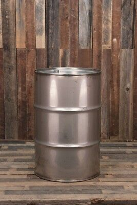 55 Gallon Used Stainless Steel Drum Barrel Closed Top All Welded