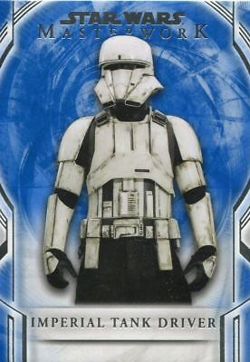 Star Wars Masterwork 2018 Blue Base Card 58 Imperial Tank Driver