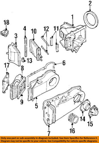 Buick GM OEM 97-99 LeSabre 3.8L-V6 Evaporator Heater-Motor Cover 52468407