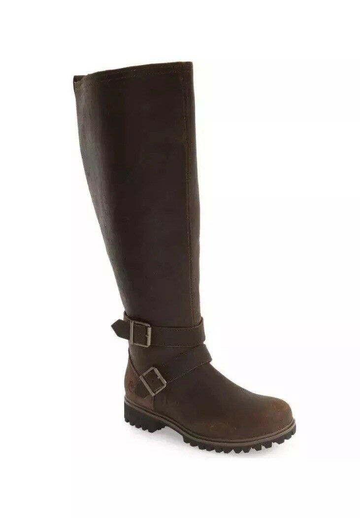 Timberland Women's Wheel Wright Wide Calf Brown Size 8. Boots NEW