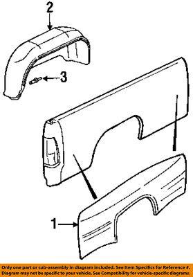 Dodge CHRYSLER OEM 94-02 Ram 3500 Fender-Pickup Bed-Fender Right 5003144AA