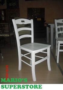 Sedia laccata bianca paesana in legno per la casa for Sedia bianca cucina