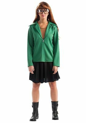 MTV DARIA CULT TV CARTOON COSTUME W/ WIG & GLASSES WOMENS SMALL DRESS SIZE 6-10 - Daria Costume