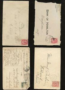CANADA-QV-KE7-1899-1912-COVERS-STATIONERY-etc-POSTMARKS-11-ITEMS