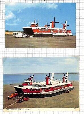 BC280 1970s GB *Hoverlloyd* Hovercraft Service Postcards{2} Ramsgate Kent Page