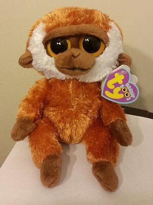 "Ty Beanie Boos ITALIAN  TAGS ~ BONGO the 6"" Monkey ~ MWMT'S ~ VERY RARE"