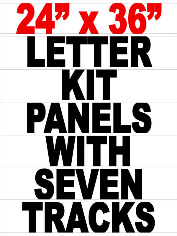 """Letter Track Panel For 24""""x 36"""" Signicade A Frame Sidewalk Sign"""