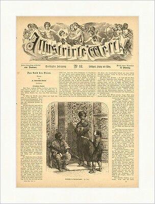 Cirkassier in Konstantinopel Tscherkessen Osmanisches Reich Holzstich E 4058