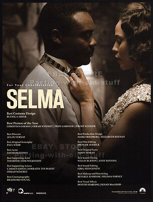 SELMA__Original 2014 Trade AD / Oscar AD_Best Costume Design__MARTIN LUTHER KING