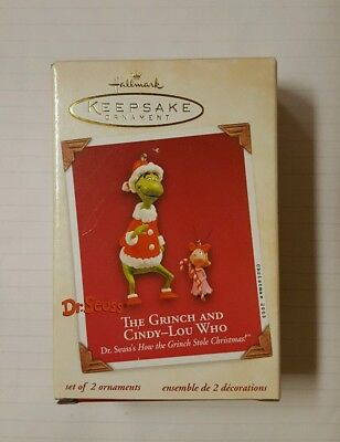 qxi8377 the grinch and cindy lou who dr seuss's how the grinch stole christmas