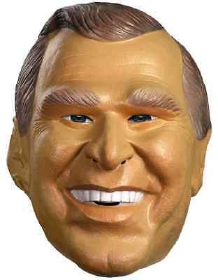 George W. Bush Mask US President Fancy Dress Halloween Adult Costume Accessory - George Bush Halloween Mask