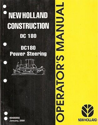 New Holland Dc180 Dc180 Power Steering Crawler Dozer Operators Manual