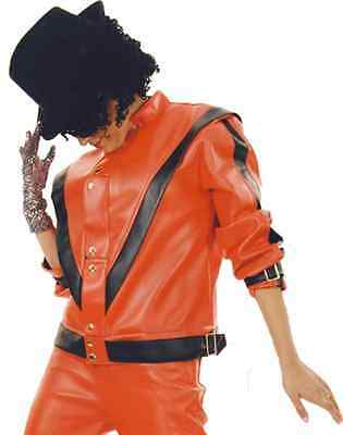 Moonwalker Chiller Jacket Michael Jackson Thriller Red Halloween Adult Costume](Thriller Halloween Costumes)