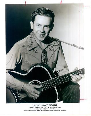 """""""Little"""" Jimmy Dickens WSM Grand Ole Opry Columbia Records Press Photo c1953"""