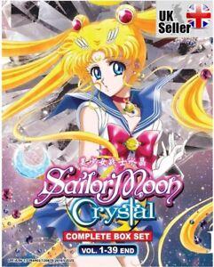 ANIME DVD Sailor Moon Crystal Season 1 - 3 ENGLISH Series Box Set - UK SHIPPING