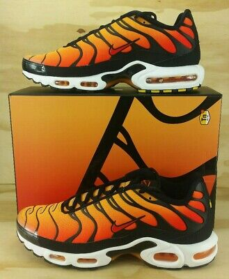 9a929e7cbe8 NEW Nike Air Max Plus TN OG Sunset Black Pimento Orange BQ4629-001 Men s  Size 11