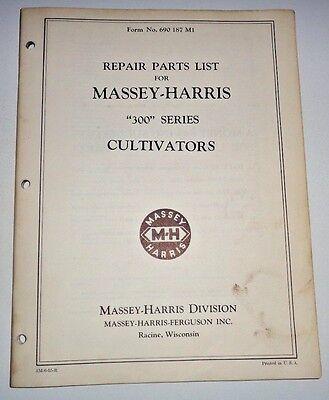 Massey Harris 300 Series Cultivator Parts Catalog Manual Book Original Mh Mf