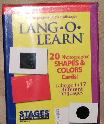 Free Shape Flash Cards ( Lang-O-Learn 17 Languages Shape/Colors Flash Cards T3 FREE SHIPPING )