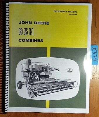 John Deere 95h Hillside Combine Sn 10618-23500 Owners Operators Manual 364