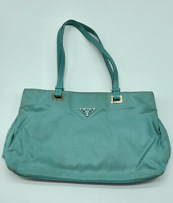 Authentic Vintage Prada Blue (teal) purse Shoulder Bag
