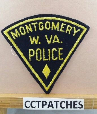 MONTGOMERY, WEST VIRGINIA POLICE FELT SHOULDER PATCH WV