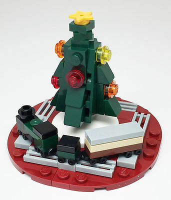 Constructibles Mini Christmas Tree With Train   Lego  Parts   Instructions Kit
