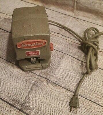 Vintage Industrial Mid Century Staplex Electric Stapler Model Sjm-1 Works