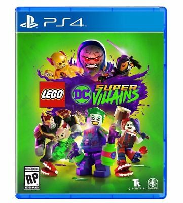 NEW! LEGO DC SUPER VILLAINS (Sony PlayStation 4 PS4)  Sealed! SHIPS FREE!! 11/26